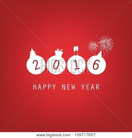 New Year Card Background - 2016