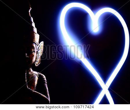 Buddha and Light Heart