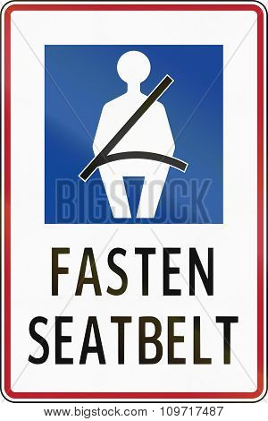 Road Sign In The Philippines - Fasten Seat Belt