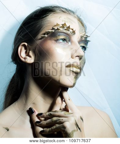Painted Gold Woman