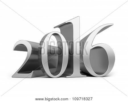 New Year 2016. 3D Rendered Image