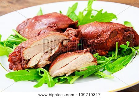 Healthy and Diet Food: Boiled Chicken in Onion Skins
