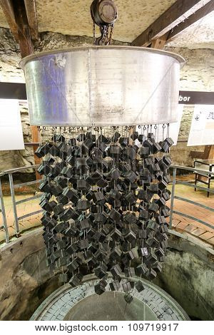 Old Uranium Nuclear Reactor At The Atomkeller, Germany.