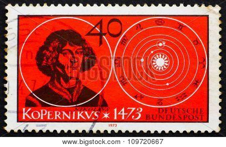 Postage Stamp Germany 1973 Nicolaus Copernicus