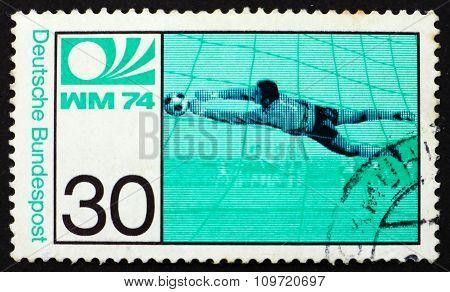 Postage Stamp Germany 1974 Goalkeeper
