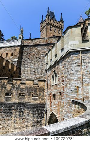 Walls Of Hohenzollern Castle In Germany.