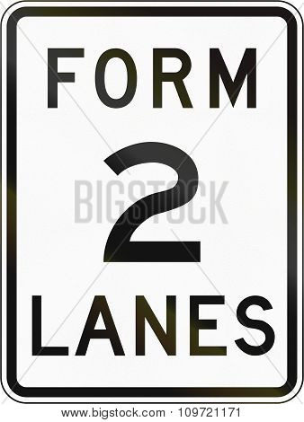Road Sign In The Philippines - Form 2 Lanes