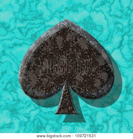 Abstract decorative symbol, black leaf - practical shape