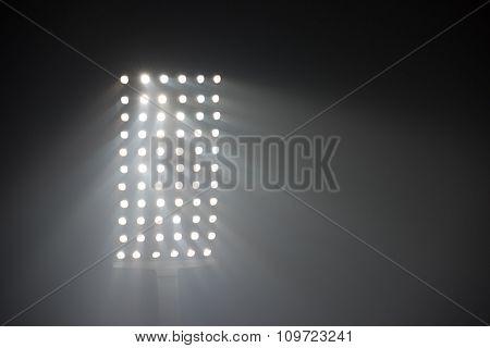 soccer stadium lights reflectors against black background