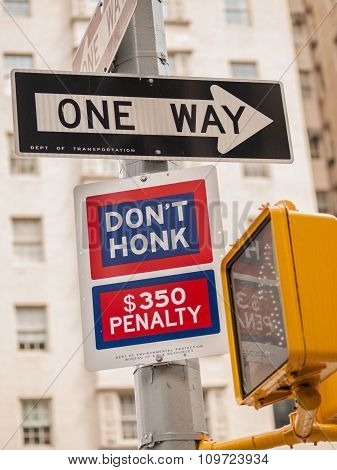 Don't Honk And One Way