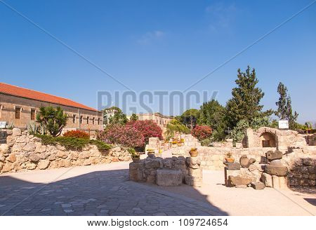 The Monastic Buildings Near The Church On Mount Tabor