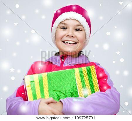 Christmas. Girl In Santa