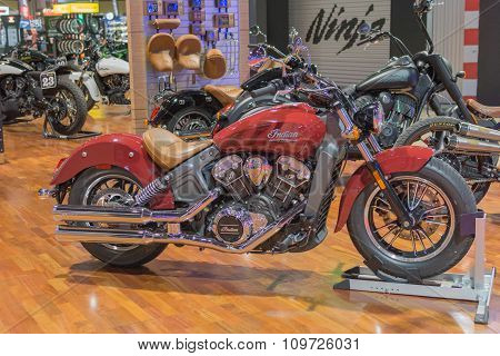 Indian Scout On Display