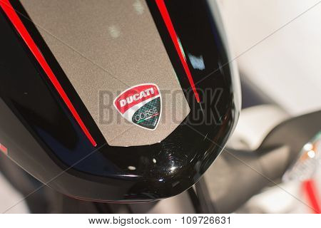 Ducati Emblem On Display
