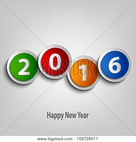 New Year Wishes With Colorful Abstract Circles Template