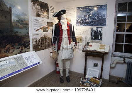 British Uniform Mannequin Inside The Old Stone House