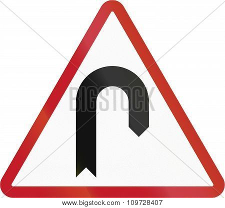 Road Sign In The Philippines - Hairpin Bend