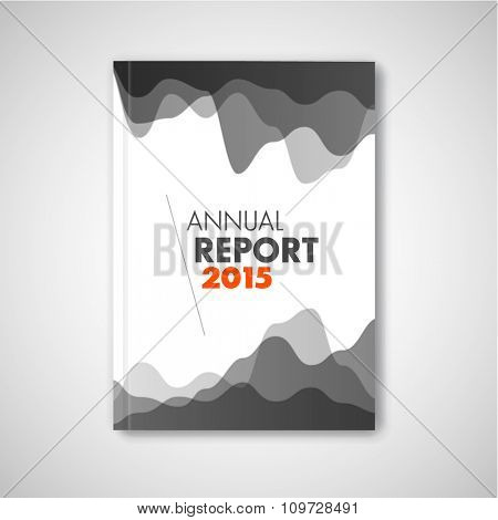 Modern Vector abstract brochure / report design template with graphs - gray version