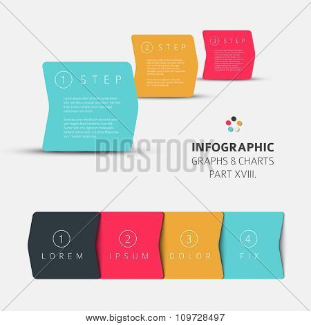 Vector flat design infographic elements (diagrams with rectangles) - 18. part of my infographic bundle