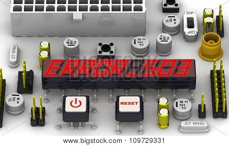 ERROR 503 (Service unavailable). The message on the display of the electronic circuit board