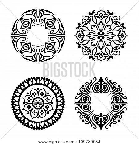Vector set of ethnic ornamental circles