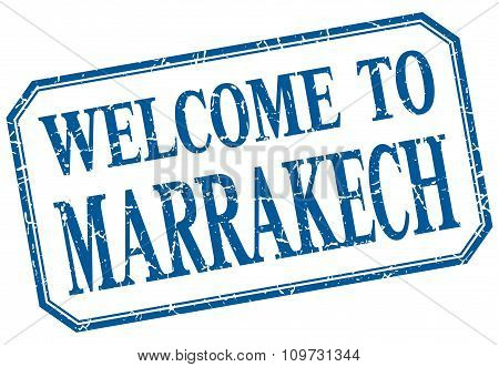 Marrakech - Welcome Blue Vintage Isolated Label