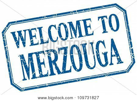 Merzouga - Welcome Blue Vintage Isolated Label