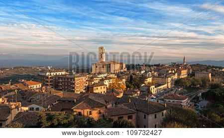 Panoramic view of Perugia - Italy - umbria