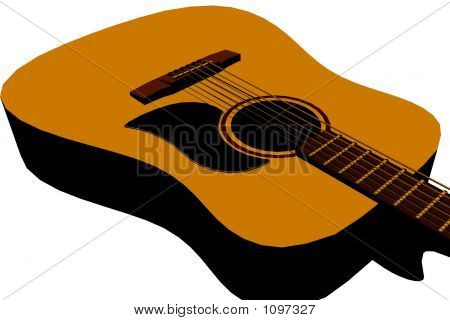 Acoustic Guitar Detail - Isolated