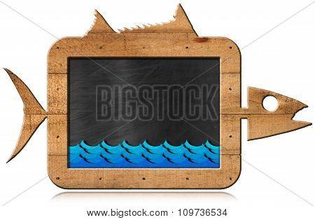 Blackboard Fish Shaped - Seafood Menu