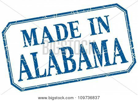 Alabama - Made In Blue Vintage Isolated Label