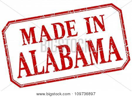 Alabama - Made In Red Vintage Isolated Label