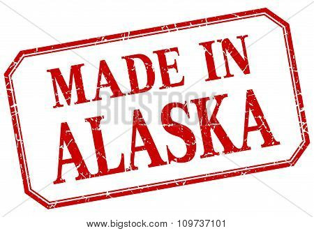 Alaska - Made In Red Vintage Isolated Label