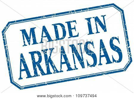 Arkansas - Made In Blue Vintage Isolated Label