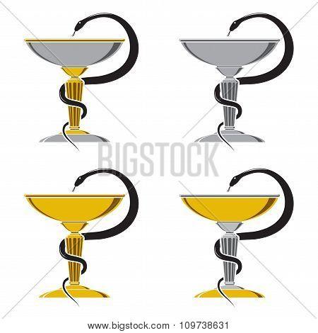 Medicine snake symbol. Vector