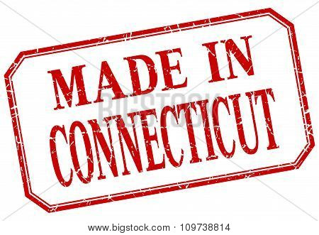 Connecticut - Made In Red Vintage Isolated Label