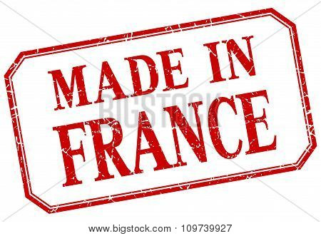 France - Made In Red Vintage Isolated Label