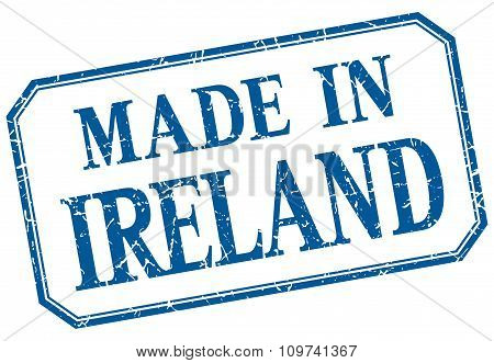 Ireland - Made In Blue Vintage Isolated Label
