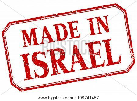 Israel - Made In Red Vintage Isolated Label