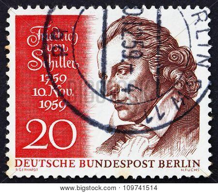 Postage Stamp Germany 1959 Friedrich Von Schiller