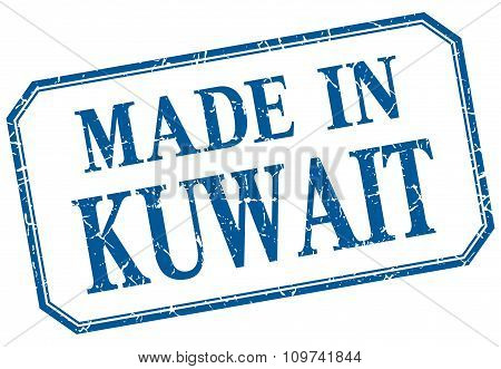 Kuwait - Made In Blue Vintage Isolated Label