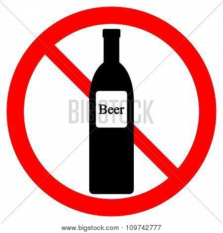 No Beer Bottle Sign.