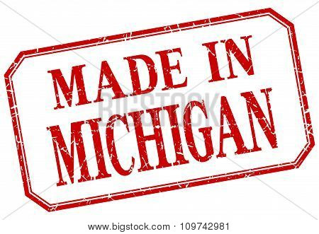 Michigan - Made In Red Vintage Isolated Label