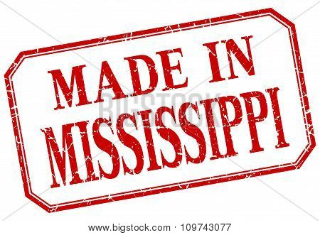 Mississippi - Made In Red Vintage Isolated Label