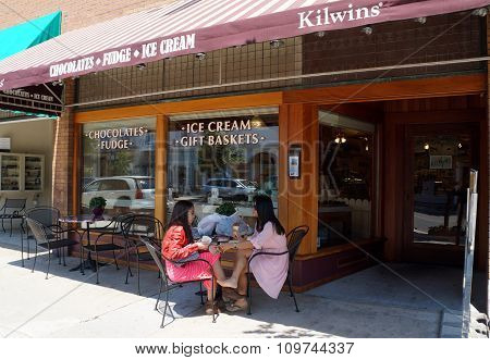 Eating Kilwin's Ice Cream