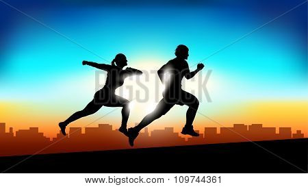 picture of runners
