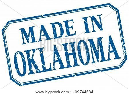 Oklahoma - Made In Blue Vintage Isolated Label