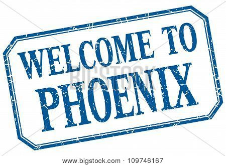 Phoenix - Welcome Blue Vintage Isolated Label