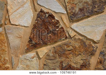 Colorful textured stone, rock wall
