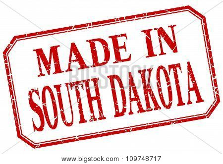 South Dakota - Made In Red Vintage Isolated Label